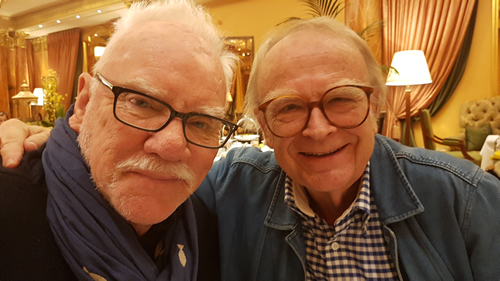 David Wood and Malcolm McDowell