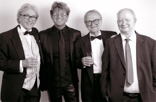 L-R Richard Everett (Pussy Graves), Robin Askwith (Keating), David Wood (Johnny), Brian Pettifer (Biles) at the Southend Film Festival