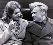 David Wood with Barbara Flynn in A FAMILY AT WAR (Granada TV)