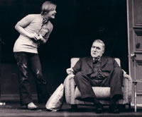 David Wood with Leslie Sands in AFTER HAGGERTY (Royal Shakespeare Company, Aldwych Theatre)