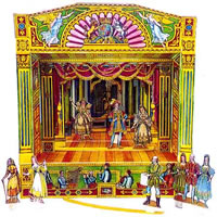 I loved my Pollock's toy theatre and performed puppet shows in the back garden